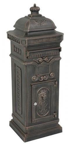 Standbriefkasten Briefkasten antik Look Postkasten Nostalgie Alu - Guss bronze | eBay