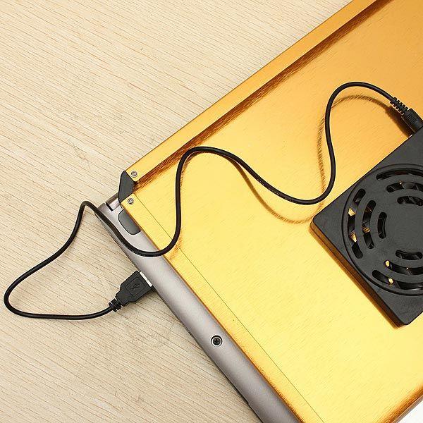 Folding Adjustable Laptop Table Stand Desk USB Cooling Pad