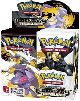 $89.99 Amazon.com: Pokemon TCG Trading Card Game Black & White BW Series #11: LEGENDARY TREASURES Booster Box - 36 packs [Release Date: November 8 ...