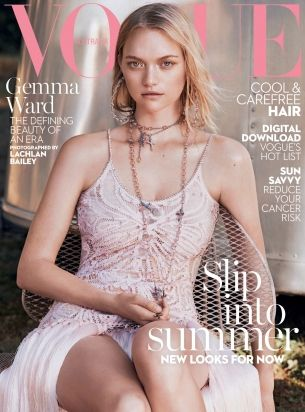 Gemma Ward by Lachlan Bailey for Vogue Australia January 2016 cover - Givenchy: