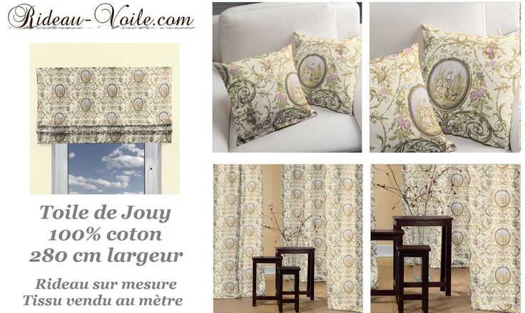 rideau toile de jouy camey blanc toile de jouy toiles et inspiration. Black Bedroom Furniture Sets. Home Design Ideas