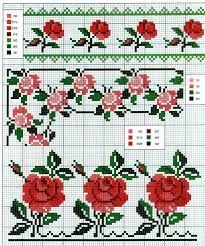 Resultado de imagen para cross stitch free patterns roses