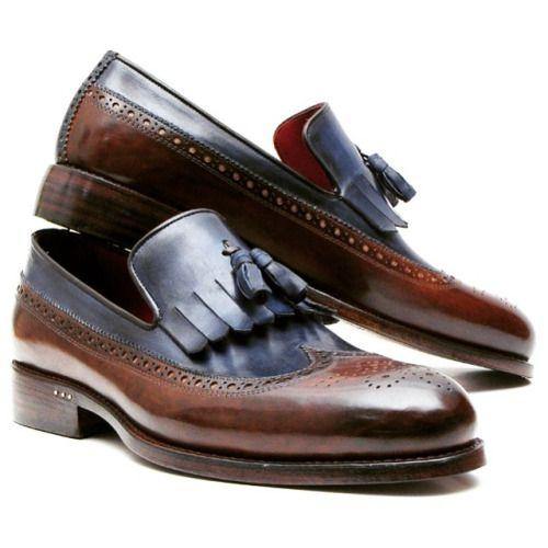 PAUL PARKMAN KILTIE TASSEL LOAFER DARK BROWN &... | Men's Luxury Shoes by PAUL PARKMAN