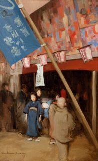Mortimer Menpes, Japanese street scene