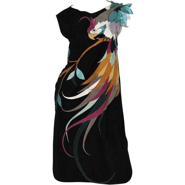 ... cocktail dress suede dress drape dress applique dress flutter-sleeve