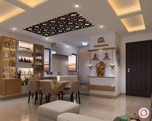 Best 11 Small Pooja Room Designs With Dimensions For Your 640 x 480