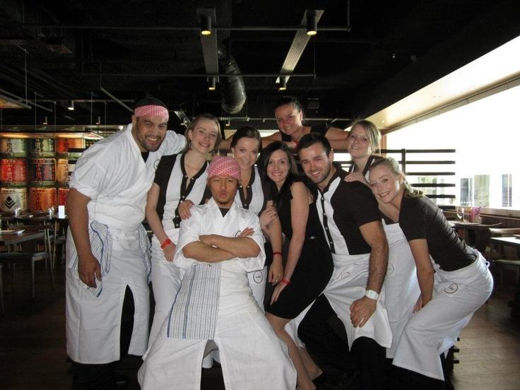 The team in Brisbane