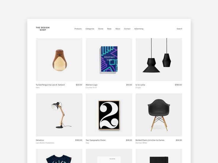 The Design Shop - website  by Ena Bacanovic