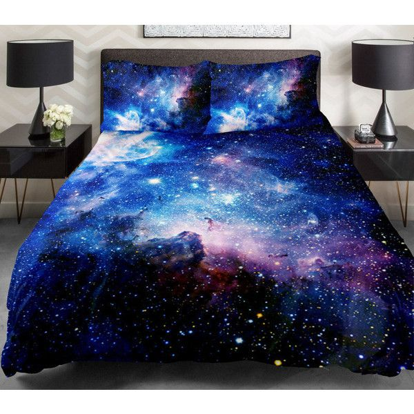 Green galaxy bedding set green galaxy duvet cover galaxy sheet with... ($148) ❤ liked on Polyvore featuring home, bed & bath, bedding, beds, room, other, bedroom, outerspace bedding, green pillowcases and green bed set