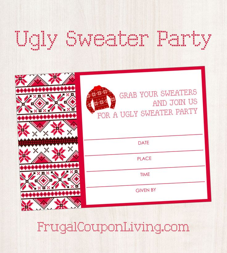 286 best Ugly Christmas Sweater Party Ideas images on Pinterest - free christmas dinner menu template