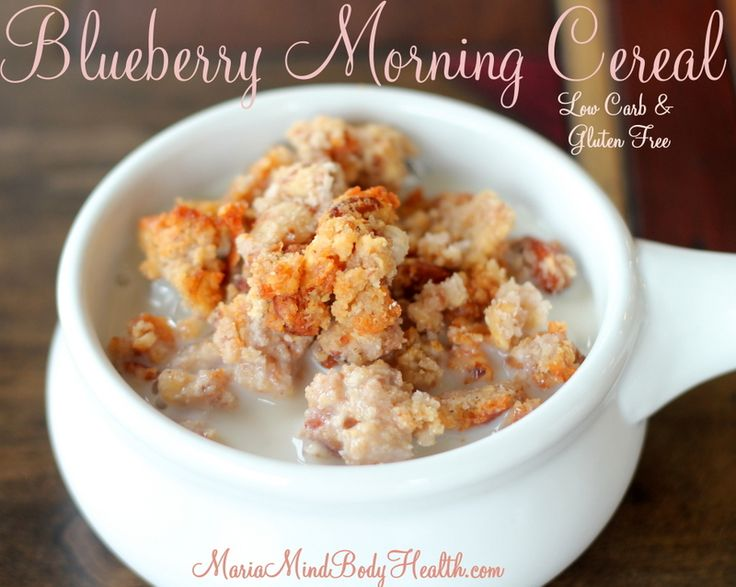 Blueberry Morning Cereal - Low Carb