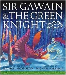 This is an exciting story to share from the knights of the round table.  My son especially liked it when the Green Knight took off his head.  There were a few lines I passed over when reading aloud however, a little too kissy face for my kids : ).