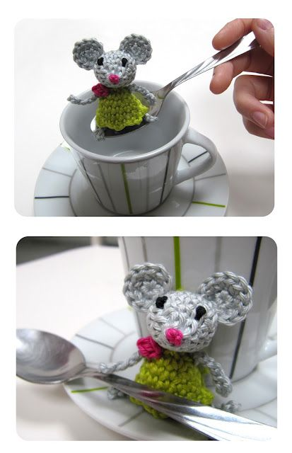Little mouse crochet tutorial (in Dutch) - Inge Snuffel - this is so cute! Wonder if I could figure it out, since pattern is in Dutch??