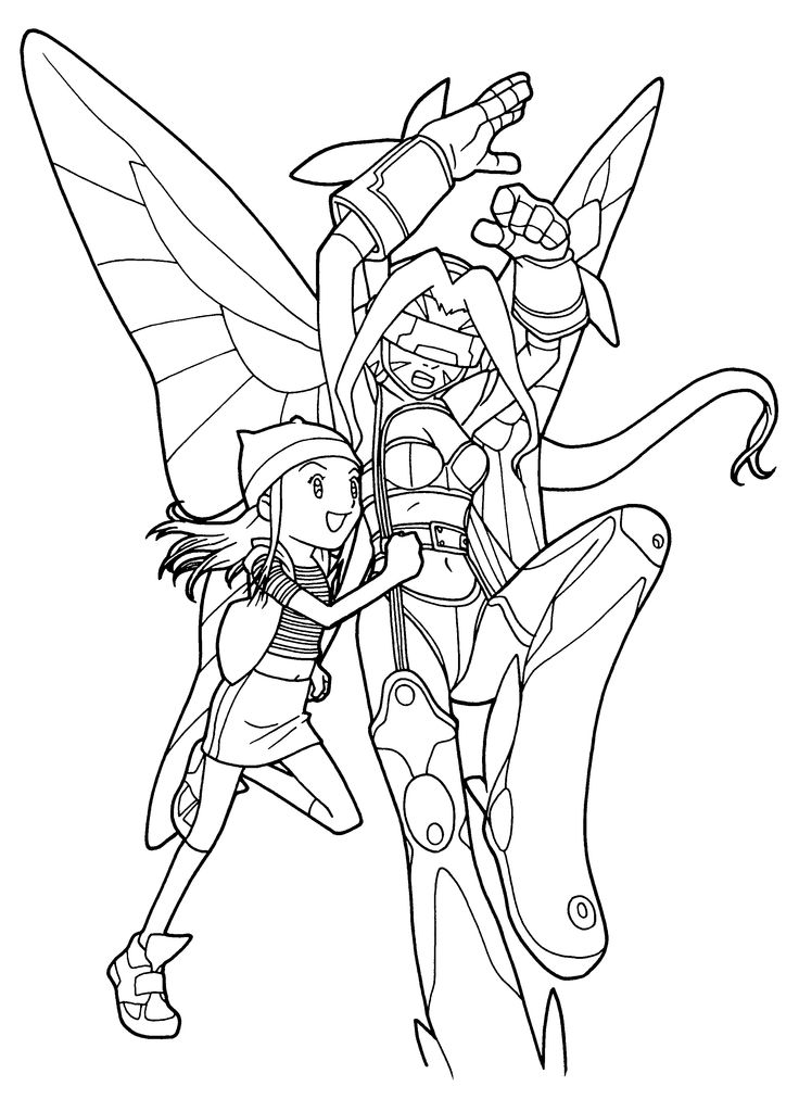 digimon data squad coloring pages - photo#9