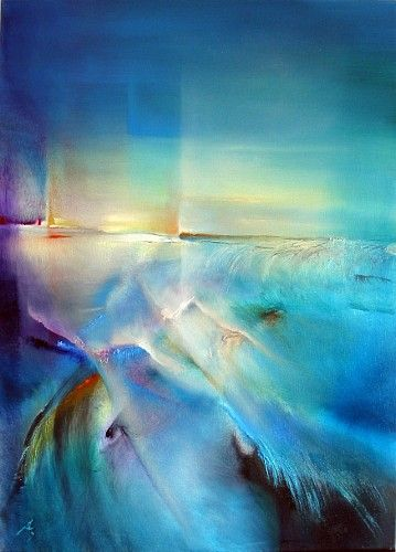 """Annette Schmucker, """"Nordlicht"""" With a click on 'Send as art card', you can send this art work to your friends - for free!"""
