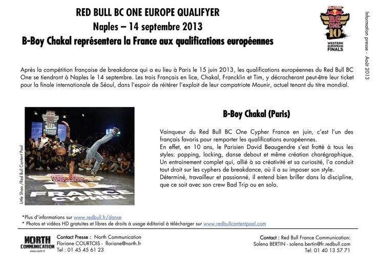 Redbull BC One - Chakal représentera la France