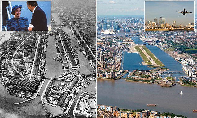 London's City Airport celebrates 30th anniversary by releasing then and now pictures | Daily Mail Online