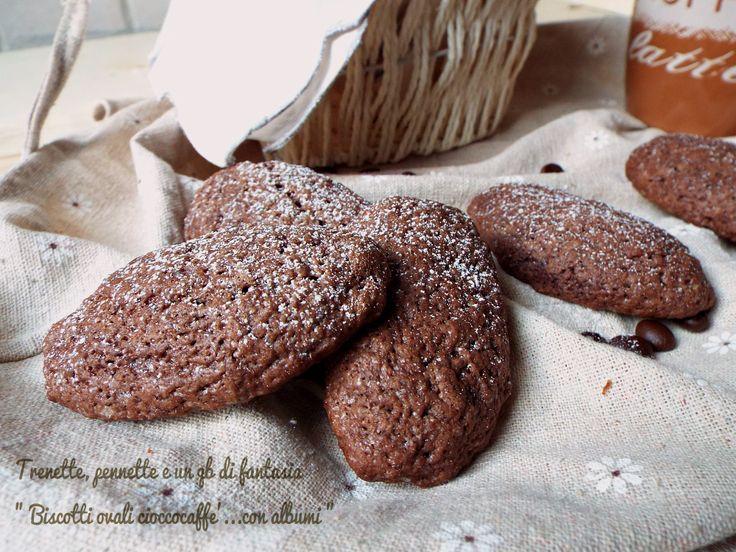 Biscotti+ovali+cioccocaffé...con+albumi