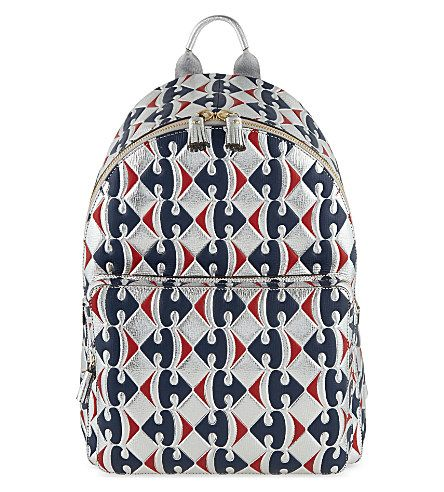 ANYA HINDMARCH Carrefour Leather Backpack. #anyahindmarch #bags #leather #backpacks #metallic