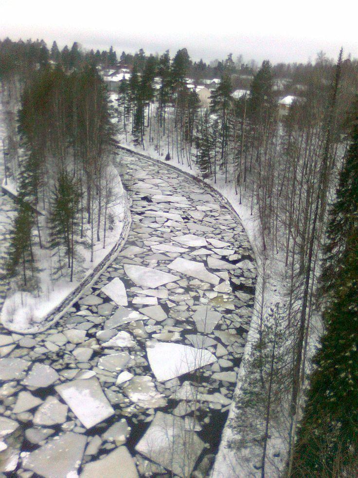 River Channel in Saimaa get frozen