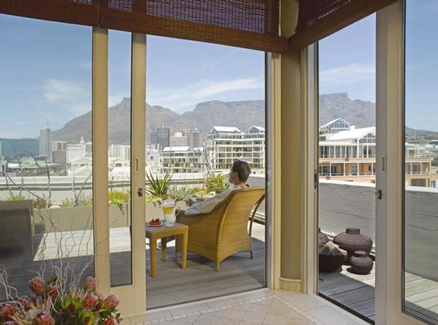 No better view on to Table Mountain than from the penthouse of Gape Grace Hotel