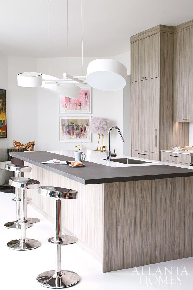Kitchencontemporary Kitchen Design By Musso Design Group Atlanta Ga Interior Design Firms Favorite Features Modern Barstools Pastel Art Ostrich