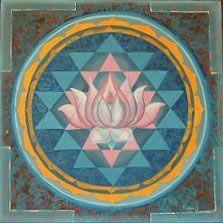 sri yantra blossoming lotus center