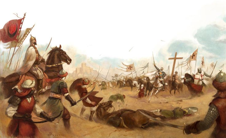 Battle of Montgisard   by Giacobino  This picture in particullar is about the batlle between Jerusalem (lead by King Baldwin IV) and the Muslim army of Saladin.