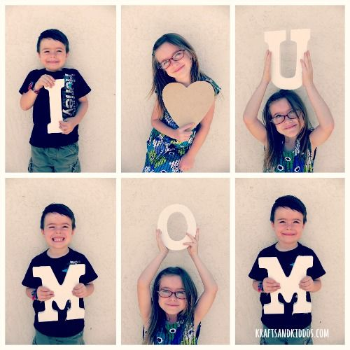 Mothers Day Photo Ideas - Simple and cute!