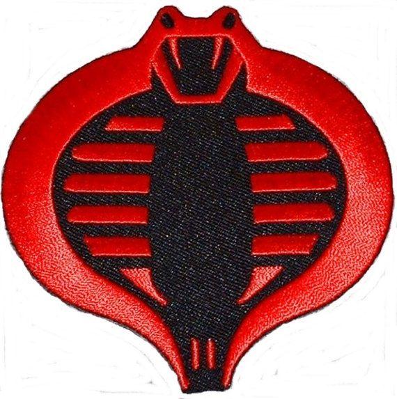 """G.I. JOE Cobra Logo rouge et noir 3 1/2"""" haut brodé Costume PATCH"""