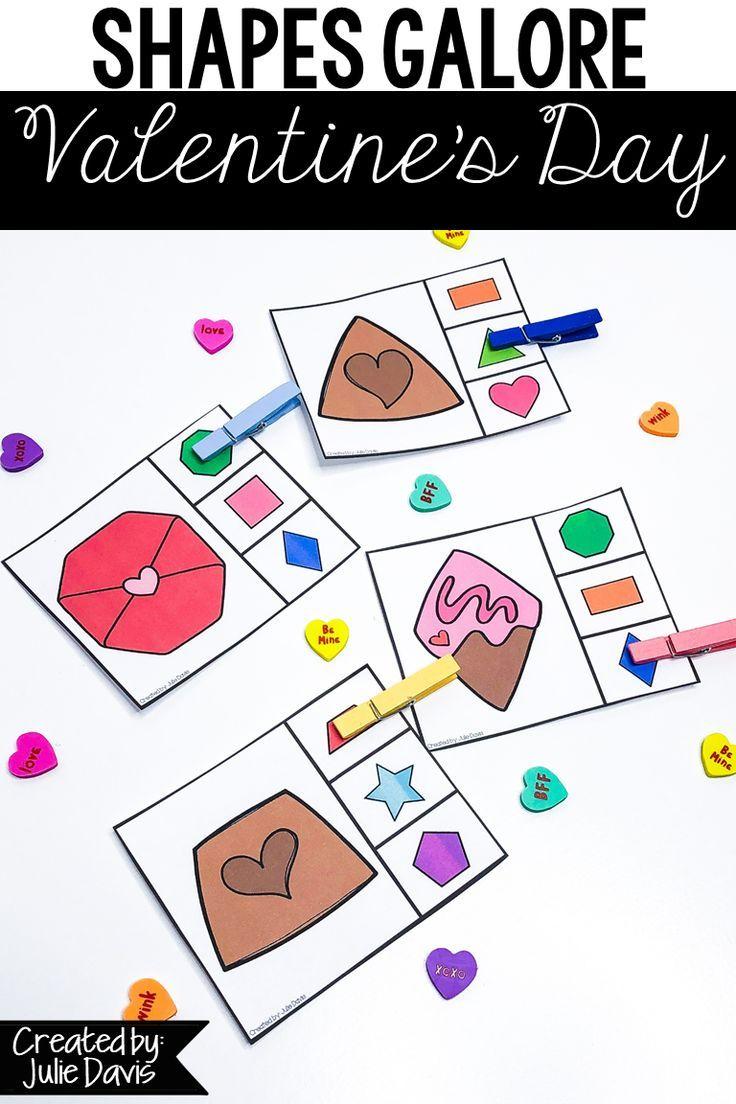 Valentine S Day Activities 2d Shapes And Games Shape Activities Kindergarten Kids Preschool Learning Shapes Activities [ 1104 x 736 Pixel ]
