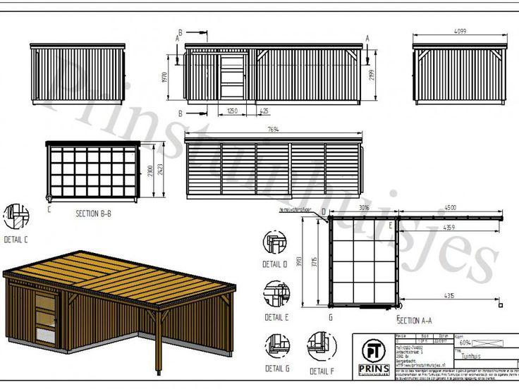 Tuinhuis met platdak en veranda afbeelding 5