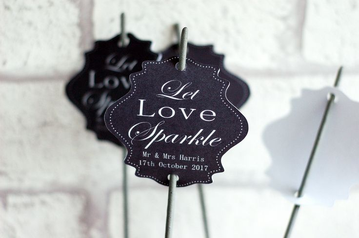 Let love sparkle tags, Wedding tags, wedding sparkler tags, tags for sparklers, celebration wedding labels, shaped wedding tags by TPDWeddingStationary on Etsy