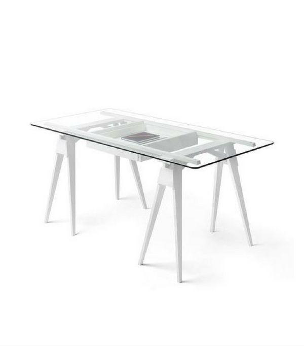 8 Bureaux Trteaux Pour Un Home Office Dco Tendance Glass DeskGlass