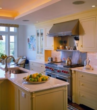 A large island provides ample room for preparation in the kitchen