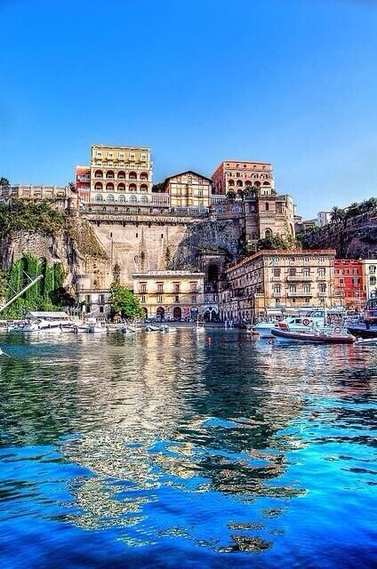 Sorrento Italy...I've totally been to this exact location of the picture. My favorite Italian city.