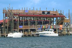 Tacky Jack's in Orange Beach, AL. Brunch, Lunch or Dinner, drive up your boat and let the good times begin.