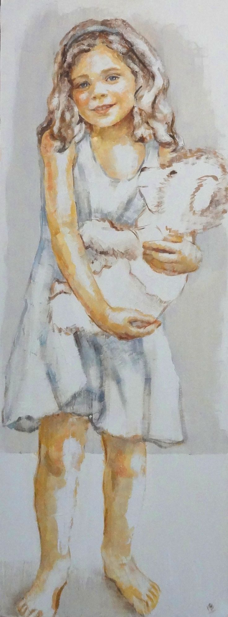niña retrato 130 x 50-M. Isabel Barros Alcalde