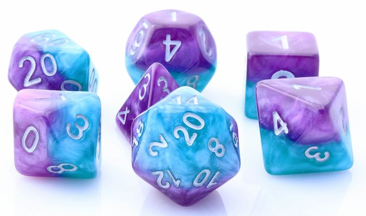 Halfsies Dice (Psionic Combat) RPG Role Playing Game Dice Set