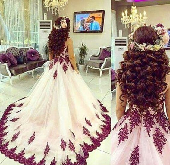 Charming Prom Dress,Tulle Prom Dress,Appliques Prom Dress,Ball Gown