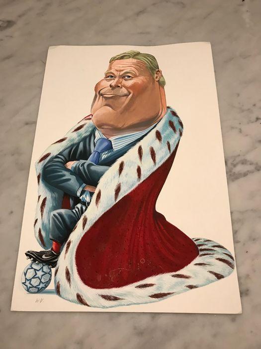 Vleeschouwer, Willem - Originele tekening in kleur voor het weekblad Panorama - Koning Ronald Koeman - [1997 / 1998] - W.B.