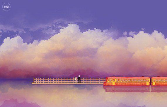 Studio Ghibli Spirited Away Poster Departure No Face And Studio Ghibli Spirited Away Spirited Away Poster Studio Ghibli