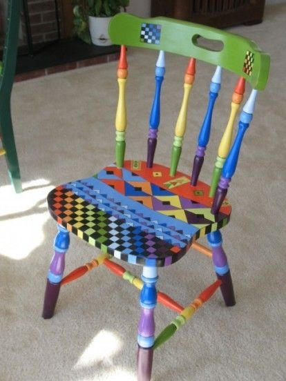 483 Best Painted Chairs Images On Pinterest Dinosaurs