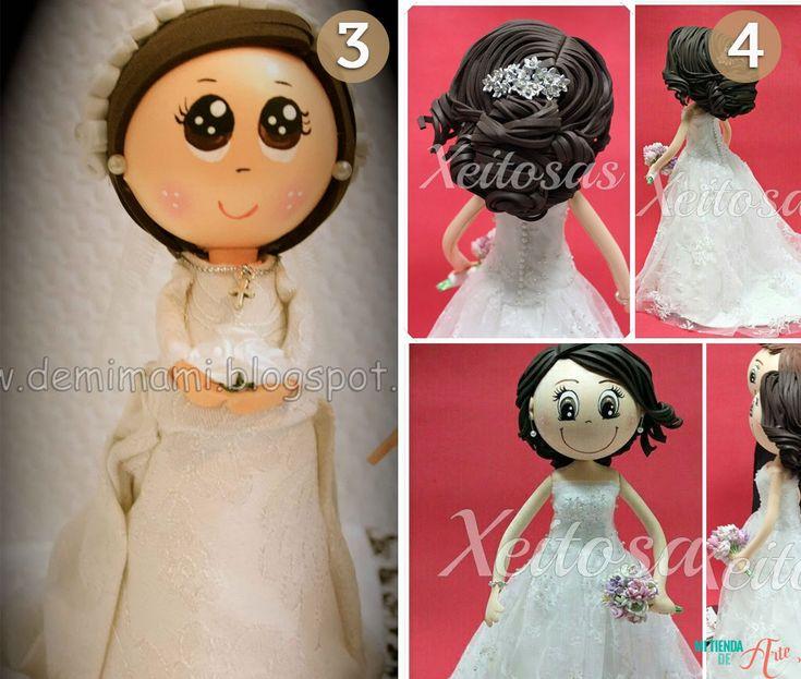 Fofuchas con traje de novia
