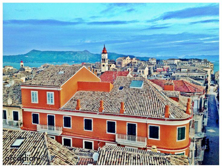 Corfu from arcadion hotel.