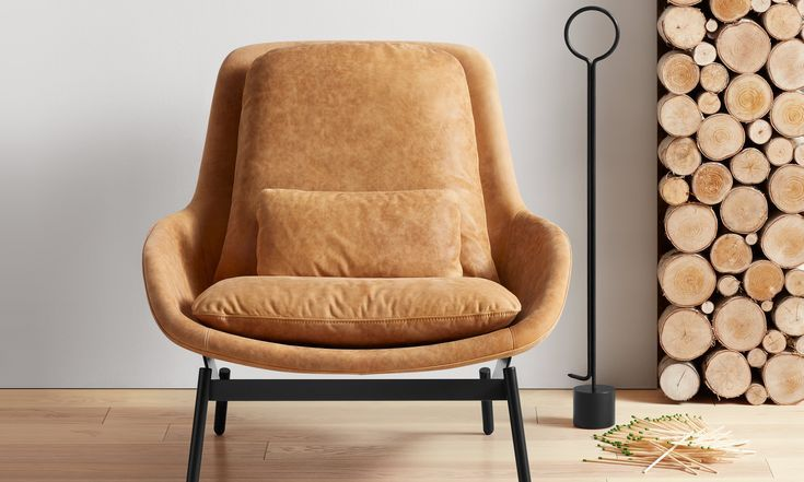 Field Leather Lounge Chair Modern Leather Chair Affordable Chair Leather Lounge Chair