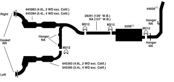 ford f150 exhaust system diagram ford