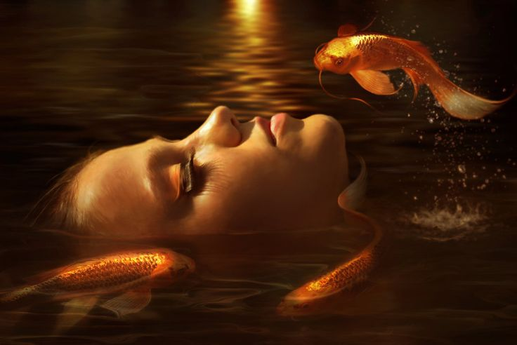 Golden fishes by *ElenaDudina on deviantART