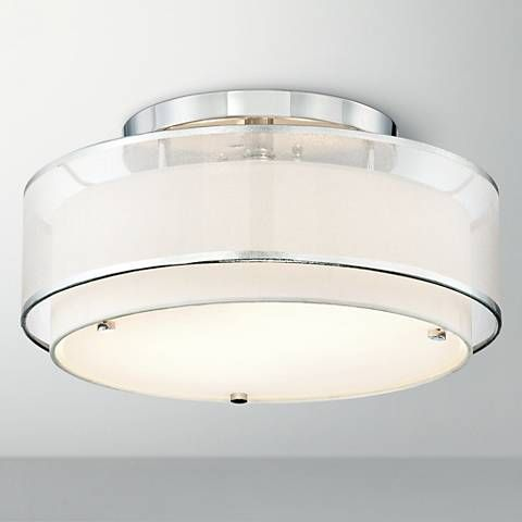 Possini Euro Design Double Organza 16 Quot Wide Ceiling Light