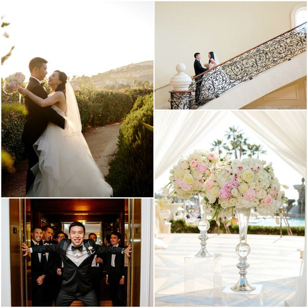 Timelessly elegant, classic Southern California wedding at Monarch Beach Resort | Luxury hotel wedding venues ballroom and garden near Los Angeles (Kevin Le Vu Photography)